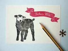 Merry Christmas Lamb :: Ahoimeise: stempel