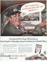 Sinclair Extra Duty Motor Oil 1954 Ad Picture