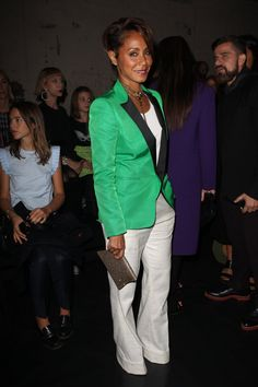 Pin for Later: Les Célébrités Se Bousculent à la Fashion Week de Paris Jada Pinkett Smith Au défilé Vionnet.