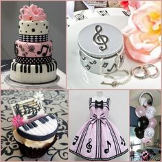 Music Note Themed Birthday Party Ideas for Kids from HotRef.com. And also features party favors ideas like music note bookmark, trinket box, music note place card holder, bottle opener and more. #musicnote