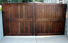 Harwell Fencing & Gates - Santa Monica, CA, United States. 12' X 6' Driveway Gate (double panel)