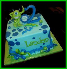 Monsters Inc cake for Landon by atasteofwhimsy, via Flickr