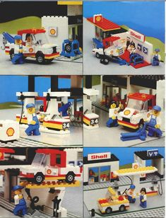 LEGO 6378 Service Station instructions displayed page by page to help you build this amazing LEGO City set Lego City Sets, Lego Sets, Lego Structures, Modele Lego, Lego Projects, Lego Duplo, Childhood Toys, Step By Step Instructions, Legos