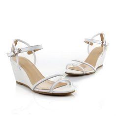 BeautyLover Women's Open Toe Kitten Heel Wedge Sheepskin Soft Material Solid Sandals, White, 39 BeautyLover http://www.amazon.com/dp/B00KKHF5A8/ref=cm_sw_r_pi_dp_Rge.tb1PFRRG1