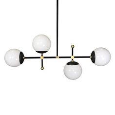 Black and Brass Horizontal Deko | Globe | Chandelier Lighting | Mid century Modern | UL Listed  Ask a question $549.00