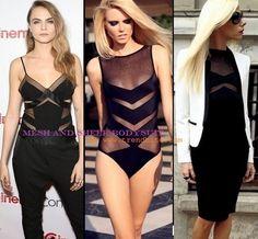 Sheer Paneled Bodysuit | Fashion Finds > http://www.trendbite.com/2015/08/sheer-paneled-bodysuit-fashion-finds.html#.Vb9vhPl7NOY