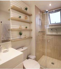 Banheiro clean e lindo by Amei❣ {HI} Sna House Bathroom, Home Interior Design, Bathroom Design Luxury, Bathrooms Remodel, House, Bathroom Interior Design, Home, Small Bathroom Remodel, Bathroom Layout