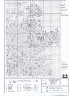 Más Punto de Cruz (pág. 54) | Aprender manualidades es facilisimo.com Flower fairy