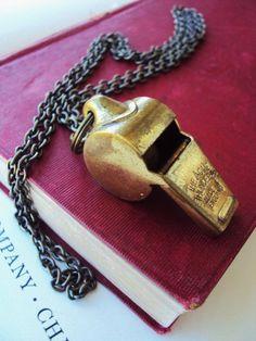 Vintage Acme Thunderer Police Whistle by primitivepincushion, $32.99