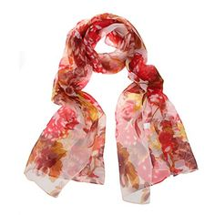 Scarf Vintage Red Rose Poppy Flower Skull Womens Square Silk Scarves Shawl Wrap for Lady Girls