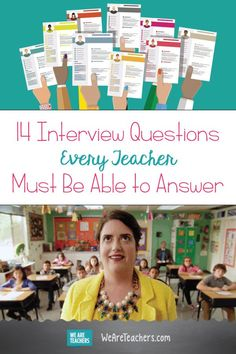 14 Interview Questions Every Teacher Must Be Able to Answer. If you're interviewing for a teacher position, then you need to be able to answer these common teacher interview questions. Teaching Interview Questions, Teacher Job Interview, Teacher Interviews, Job Interview Tips, Teacher Tips, Teacher Planner, Interview Tips For Teachers, Teacher Quotes, Teacher Stuff