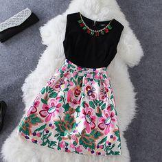 Fashion round neck sleeveless dress #092620AD