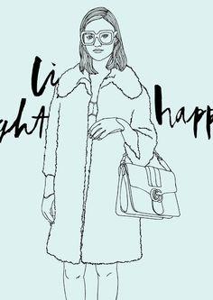 Gucci Geek fashion illustration nerd, style, gucci summer 2016