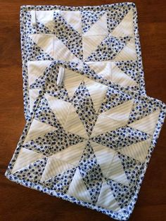Quilted pot holders by Heathersquaintquilts on Etsy