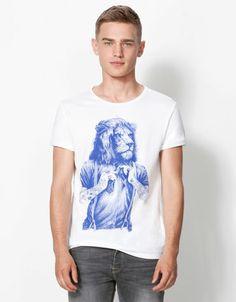 Bershka Romania - Lion print T-shirt
