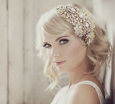Love the Gold accents in this one -would love rose gold!  Viktoria Novak, Wedding Accessories, Sydney, NSW