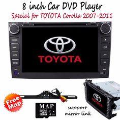 "8"" Double 2 Din Car DVD Player GPS Navigation BT TV for Toyota Corolla 2007-2011 #TOCADO"