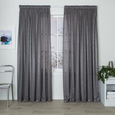 Serene Silver   Readymade Sheer Pencil Pleat Curtain   Curtain Studio Buy  Curtains Online