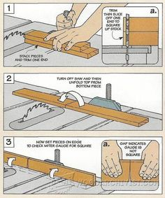 Miter Gauge Tips - Table Saw Tips, Jigs and Fixtures | WoodArchivist.com