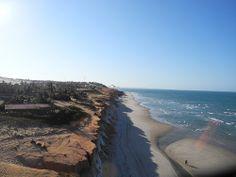 Beautiful vista over the beaches of Canoa Quebrada, Ceará #Brazil