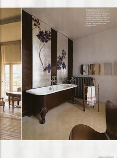 Claire Basler art in the bathroom