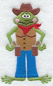 Machine Embroidery Designs at Embroidery Library! - Rodeo - cowboy frog