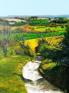 """""""Blackcap Down"""" Acrylic painting by Paula Oakley. South Downs"""
