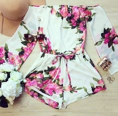 e199cb0a756 P I N    Kee ah ruh ✩ Floral Jumpsuit