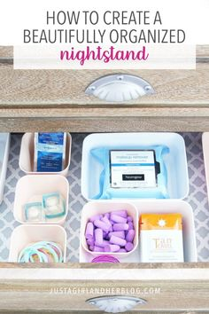 Nightstand organization can be a total game changer! Create a beautifully organized nightstand that holds everything you need in one neat and tidy spot! Small Closet Organization, Organization Hacks, Clothing Organization, Clothing Racks, Organizing Tips, No Closet Solutions, Small Space Solutions, Tan Towels, Plumbing Pipe Furniture