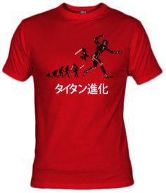 Camiseta Titan Evolution by samiel, Fanisetas.com, attack on titan