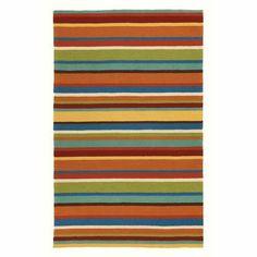 Company C Cabana Stripe Outdoor Rug, 3'6 x 5'6