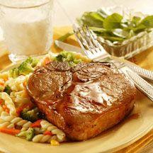 Honey-Glazed Pork Chops.
