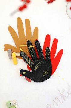 Chalkboard Paper Hand Turkey