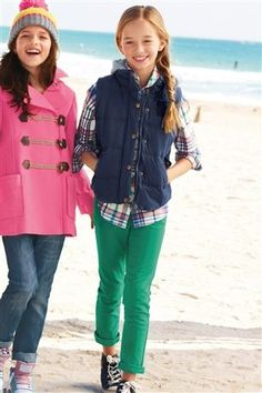 pink hooded duffle coat for girls