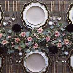 Forks&Brides; — Tone down on the flowers and let the dinnerware do...