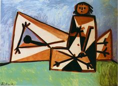 Man and woman on the beach 1956 Pablo Picasso