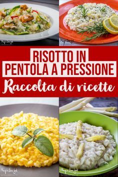 Pressure cooker risotto - The best easy recipes .- Pressure cooker risotto: the best quick and easy recipes for a first course as a king. Quick Healthy Meals, Healthy Snacks, Healthy Eating, Healthy Recipes, Fun Easy Recipes, Food And Drink, Cooking, Ethnic Recipes, Dinner Ideas