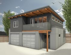 empress ave laneway suite w backgroundjpg modern garagegarage - Modern Garage With Apartment Above