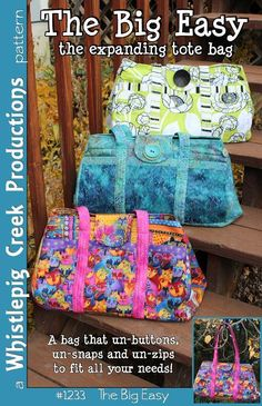 The Big Easy Expanding Tote - via @Craftsy  -  This would make a great diaper bag!!!!