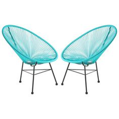 Shop for Set of 2 PoliVaz Woven Basket Lounge Chairs (China). Get free delivery at Overstock.com - Your Online Garden