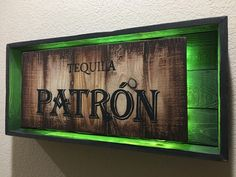Custome Rustic Light Up Liquor Sign by PRIMOBARS on Etsy