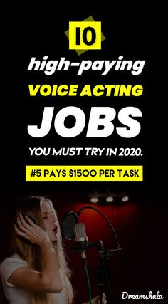 10 high-paying voice acting jobs you must try in Earn Money From Home, Make Money Fast, Way To Make Money, Make Money Online, Online Work From Home, Work From Home Tips, Voice Acting, The Voice, Acting Exercises