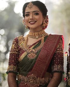 """Jodi Bridal Show on Instagram: """"Absolutely in Love with the deep color tones in this look! 😍 Bride @crowned_unicorn.06 Mua @makeupbydeepamegnath Blouse @misaakigalleria…"""" Tamil Wedding, Saree Wedding, Bridal Show, Bridal Style, Unicorn, Sari, Crown, Bride, Photo And Video"""