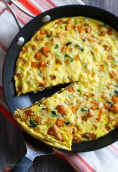 Leftover Turkey and Sweet Potato Frittata