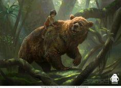 The Jungle Book: Baloo and Mowgli concept, Michael Kutsche on ArtStation at https://www.artstation.com/artwork/n2weo