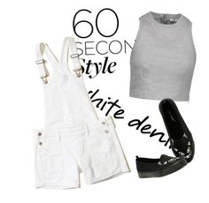 """""""Put on and Go"""" by faeryrain ❤ liked on Polyvore featuring T By Alexander Wang, Hollister Co., Hot Topic, trending, whitedenim, fashionset and polyvorecontestset"""