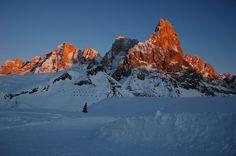Pale di San Martino al tramonto