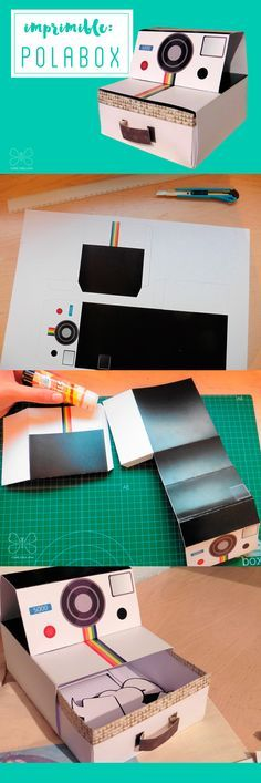 free printable polabox caja polaroid imprimible
