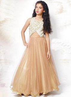 Look simple yet rich with wearing this Georgette Kids Salwar Suit with Embroidered work. Indian Dresses, Indian Outfits, Kids Salwar Suit, Kids Lehenga Choli, Indian Online, Kids Clothing Brands, Gowns For Girls, Full Skirts, Gowns Online