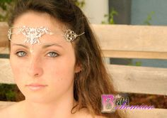 Bridal Wedding Fantasy Rennaisance Medieval Elven Fairy Head Chain Crown Tiara Circlet